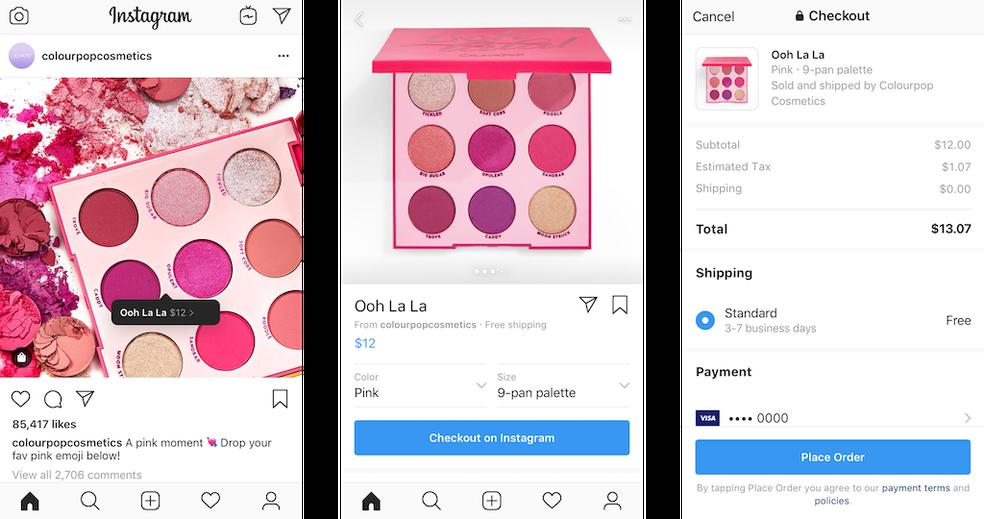Instagram Checkout permite compras dentro do aplicativo — Foto: Divulgação/Instagram