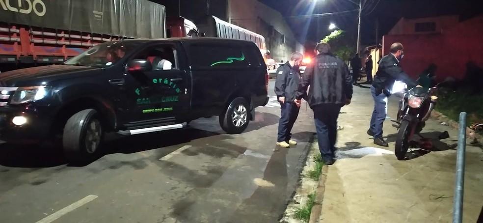 Breno Henrique de Carvalho morreu no local do acidente,  — Foto: IBTV Santa Cruz/Reprodução
