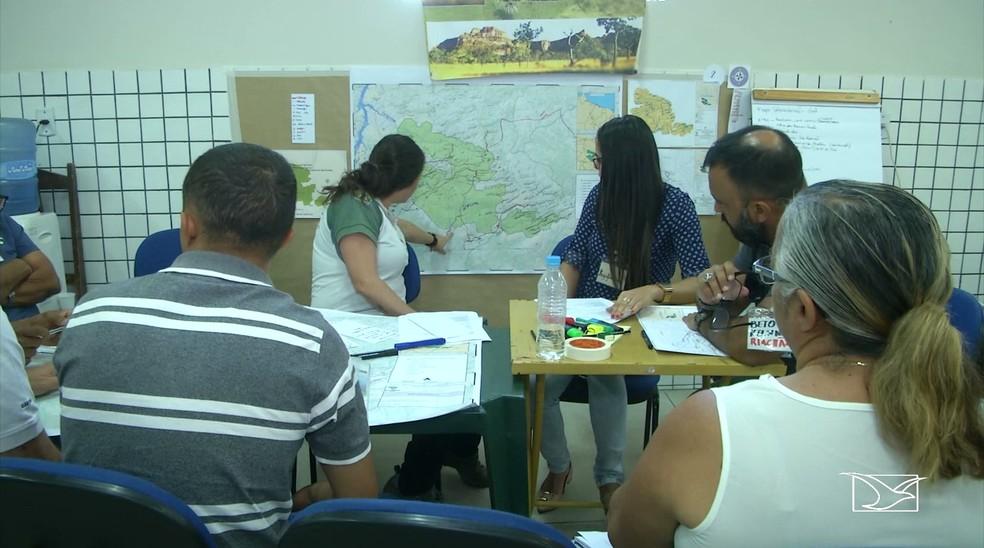 Reuniões para elaborar o plano são coordenadas pelo Instituto Chico Mendes de Biodiversidade (ICM/Bio). (Foto: Reprodução/TV Mirante)