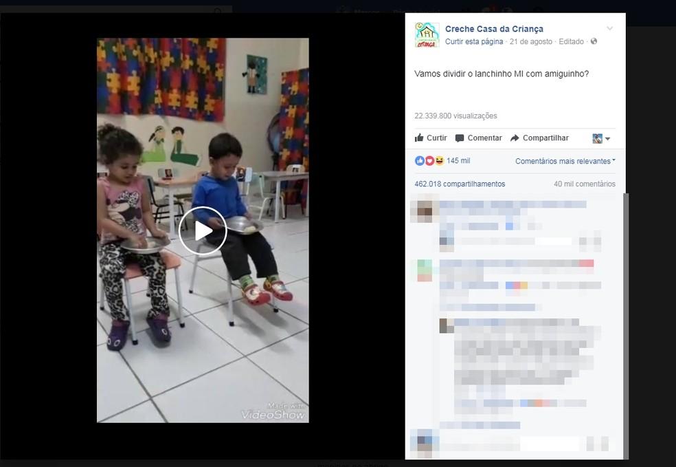 Postagem fez sucesso e teve mais de 145 mil curtidas (Foto: Reprodução/Facebook)