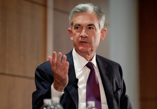 O diretor do Federal Reserve, Jerome Powell, em Washington, nos Estados Unidos (Foto: Joshua Roberts/Reuters)