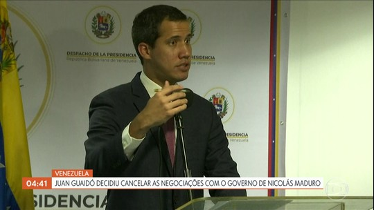 Juan Guaidó decide cancelar as negociações com o governo de Nicolás Maduro