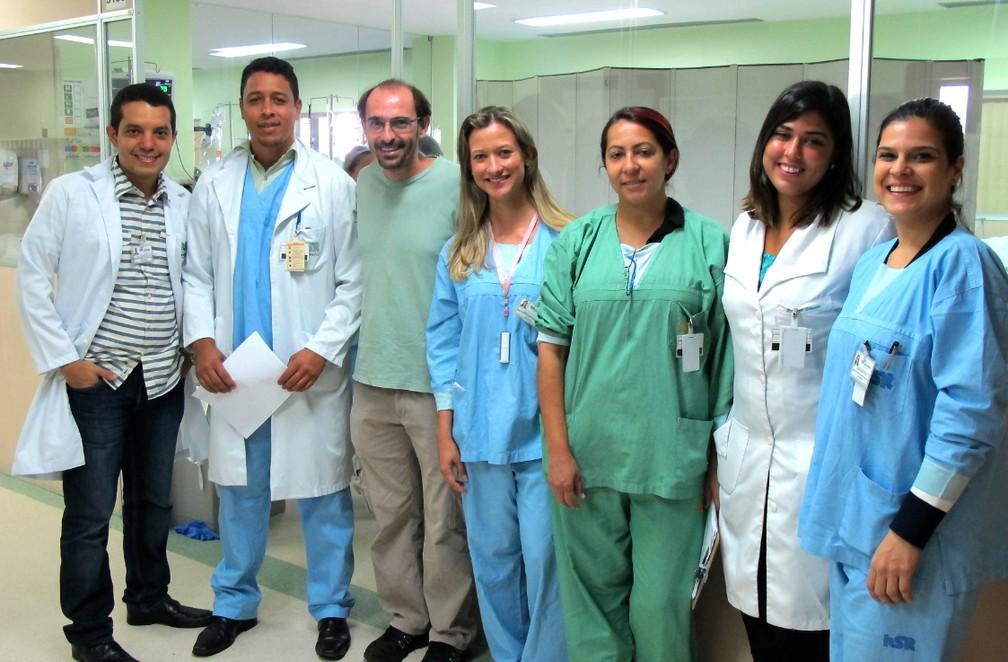 Rui Rezende visitou o Hospital do Oeste — Foto: Arquivo Pessoal