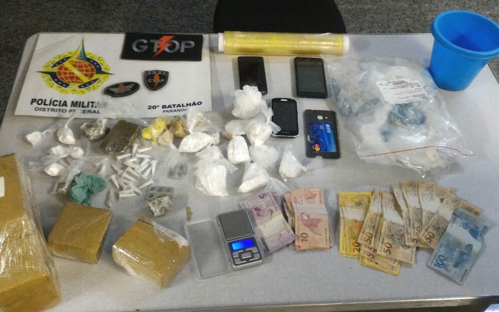 Polícia Militar de Brasília apreende 3 kg de drogas variadas com suspeito de tráfico no Paranoá (Foto: Polícia Militar/Divulgação)