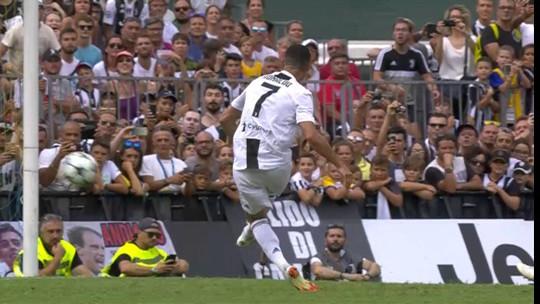 Cristiano Ronaldo precisa de 7 minutos para marcar o primeiro pela Juventus