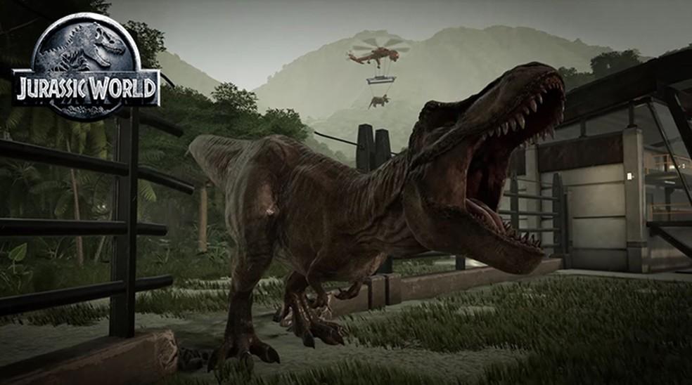 Jurassic World Evolution será um simulador do Parque dos Dinossauros (Foto: Reprodução/YouTube)