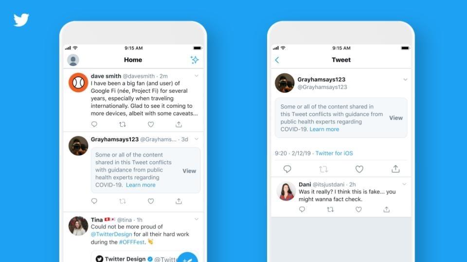 Twitter vai incluir alertas em tuítes com informações falsas sobre Covid-19