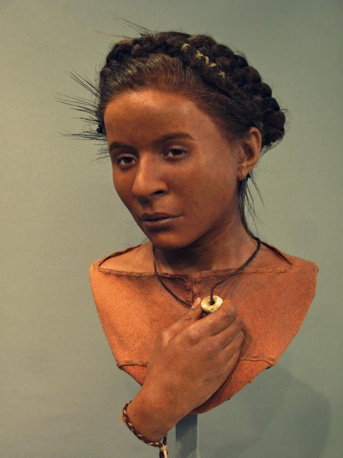 Rosto reconstruído da menina Whitehawk (Foto: Royal Pavilion & Museums; Brighton & Hove)