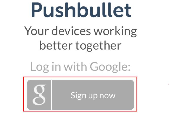Fazendo login no Pushbullet para iOS (Foto: Reprodução/Edivaldo Brito)