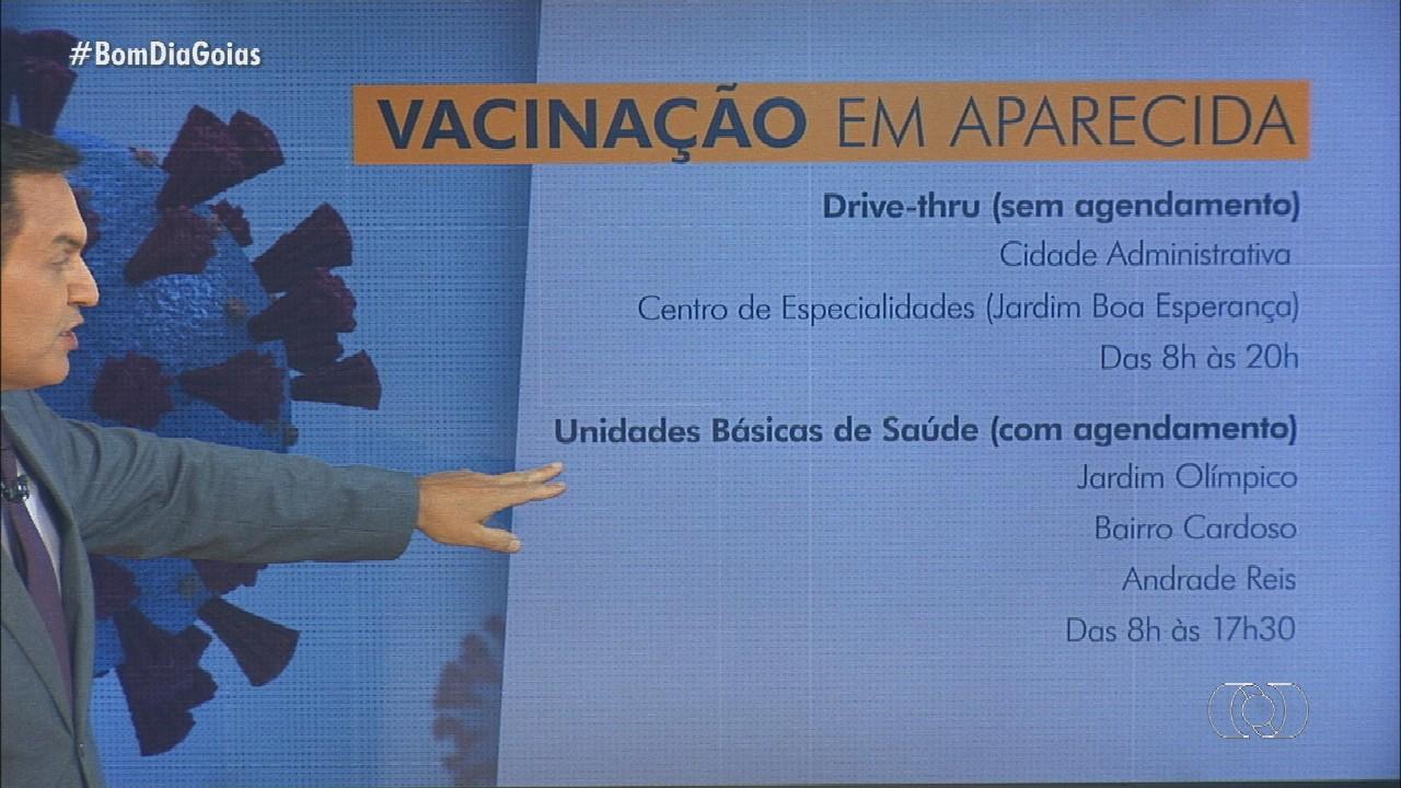 Confira aplicação de vacina contra Covid-19 em público de Aparecida de Goiânia