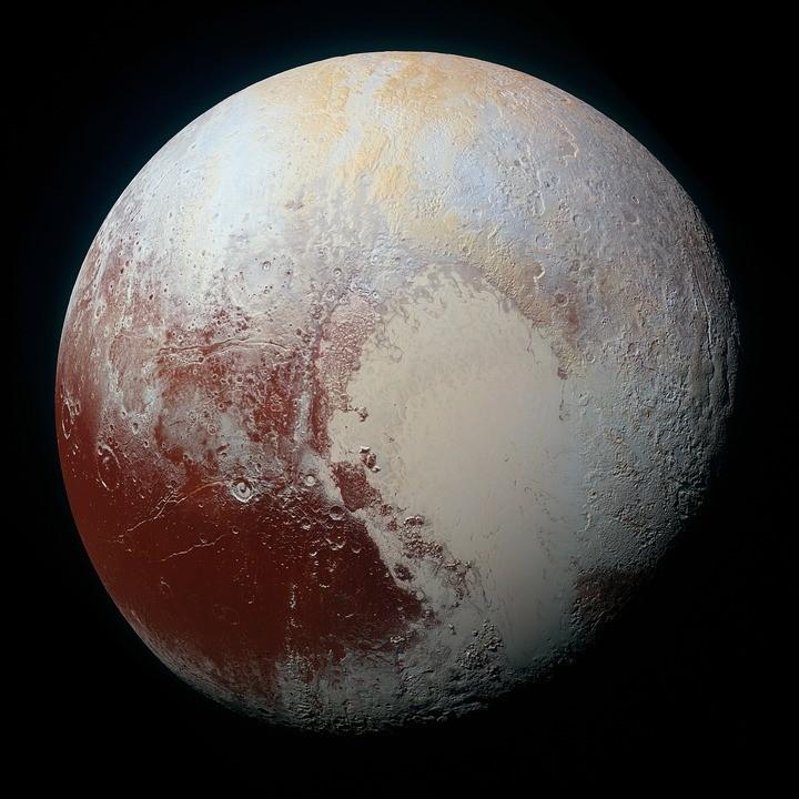 Plutão tem oceano subterrâneo, atmosfera em várias camadas e compostos orgânicos (Foto: Pixabay/Skeeze/Creative Commons)