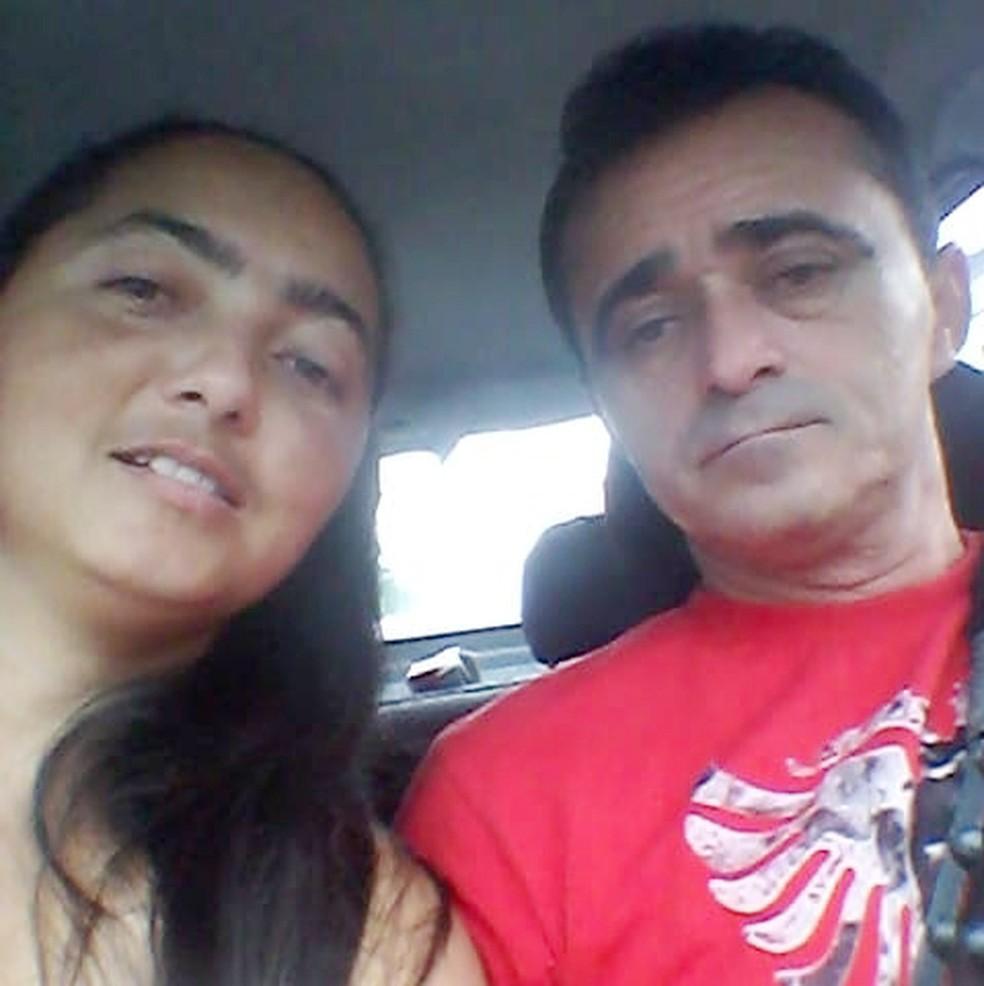 Luziane e José Diógenes estavam separados; ele é o principal suspeito de agredir ela e a filha, em São Vicente, SP — Foto: Reprodução/Facebook