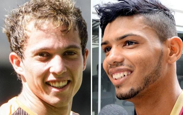 Bernard; Carlos; Atlético-MG: Shakhtar (Foto: Globoesporte.com)