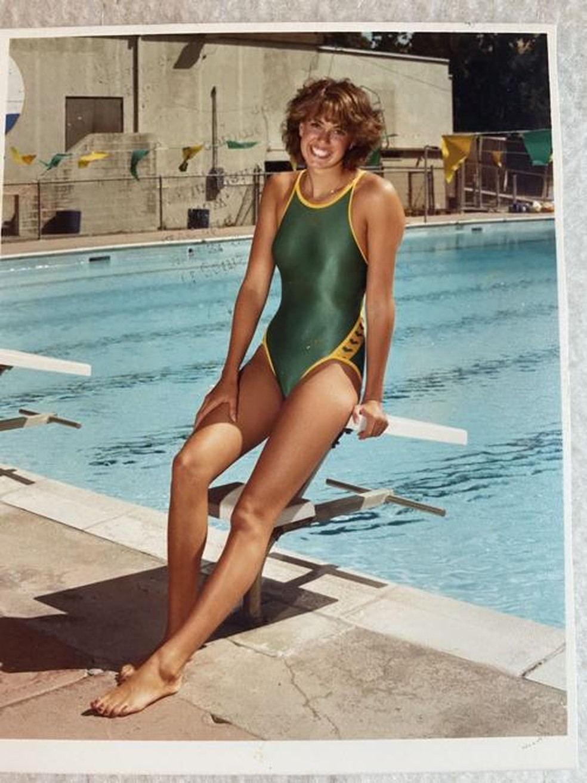 Debra Grodensky quando ainda era atleta — Foto: Arquivo pessoal