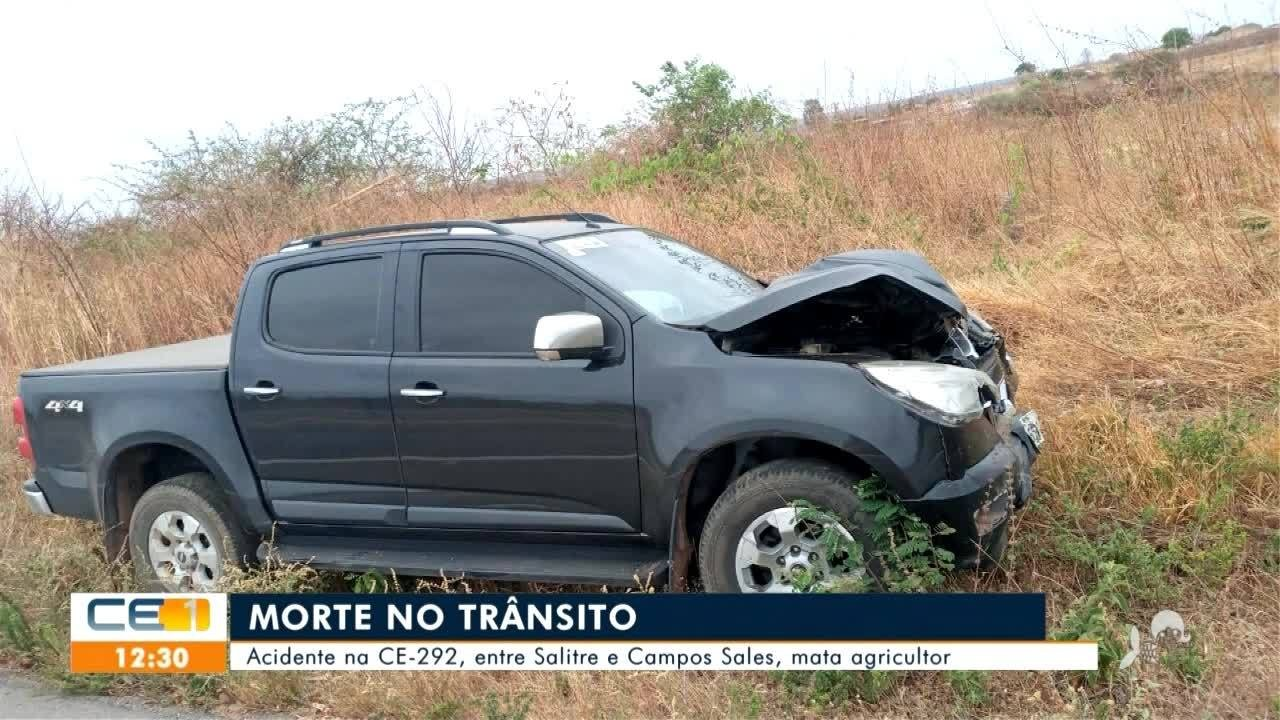 Agricultor morre em acidente em Salitre