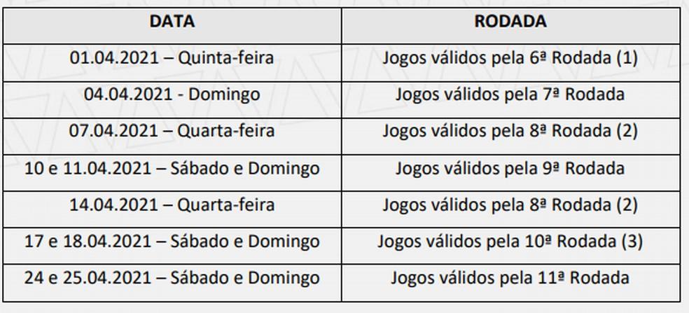 Novas datas do Campeonato Mineiro 2021 — Foto: Reprodução