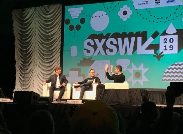 Josh Constine, jornalista do TechChrunch (à esq.), com Mike Krieger e Kevin Systrom (Foto: Instagram)