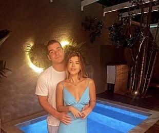 Thiago Martins com a namorada, Talita Nogueira | Reprodução
