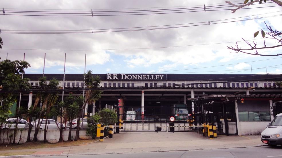 Fábrica da RR Donnelley em Tamboré, no Barueri (SP) — Foto: RR Donnelley/Divulgação