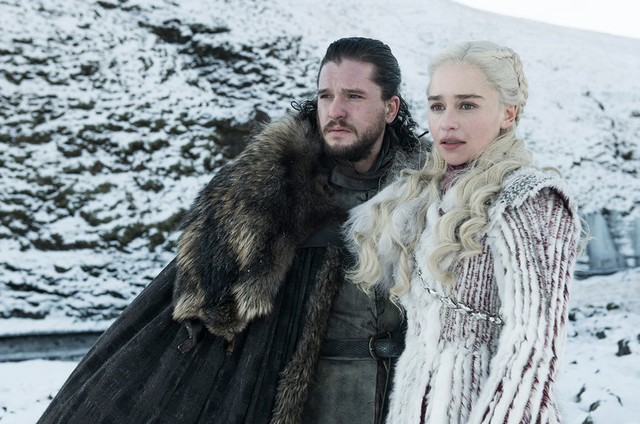 Kit Harington e Emilia Clarke em 'Game of thrones' (Foto: HBO)
