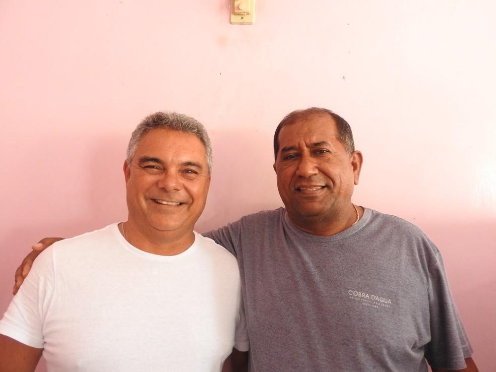 Petrarca Alelaf (candidato a vice) e Leony Veras, o Gringo (candidato a presidente) (Foto: José Wilson/Jornal da Parnaíba)