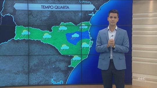Previsão do tempo indica chuva a qualquer hora no Norte, Vale do Itajaí e Grande Florianópolis