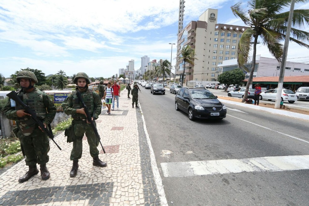 Militares foram chamados para ajudar na segurança das ruas em outras oportunidades no governo Robinson Faria (Foto: Elias Medeiros)