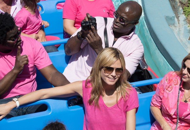 Heidi Klum e Seal (Foto: The Grosby Group)