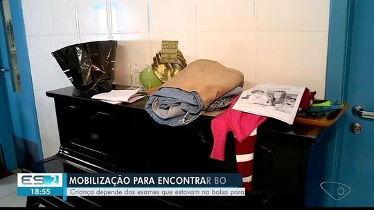 Bolsa com exames de criança com baixa visão é furtada e grupo se mobiliza para encontrar em Colatina, ES