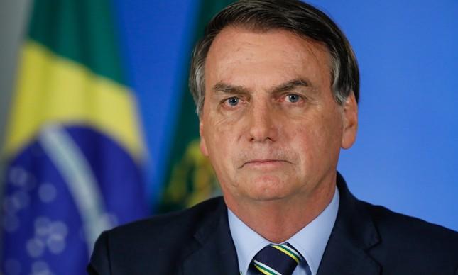 Presidente Jair Bolsonaro em pronunciamento sobre o novo coronavírus