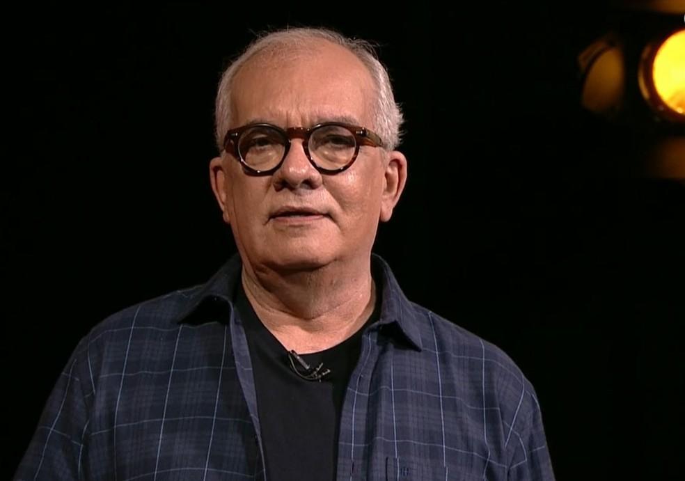 Artur Xexéo em programa da GloboNews. — Foto: Reprodução/GloboNews