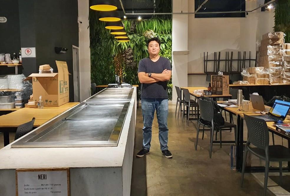 Restaurante a quilo no Centro de São Paulo estuda acabar com o self service e colocar funcionários para fazer os pratos dos clientes. — Foto: Divulgação