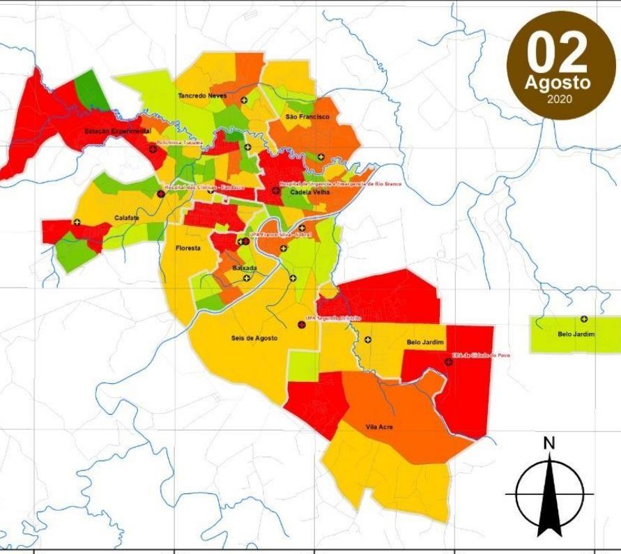 Bosque, Belo Jardim e Floresta são os  bairros com mais casos de Covid-19 em Rio Branco