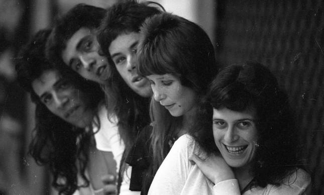 Rita Lee com a banda Tutti-Frutti, em novembro de 1973