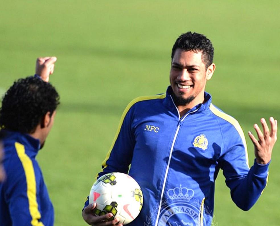 Hernane defendeu o Al Nassr entre 2014 e 2015 (Foto: Divulgação)