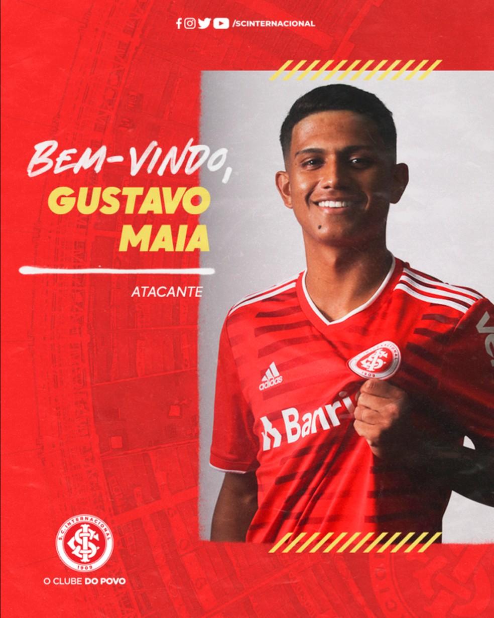 Gustavo Maia é oficializado pelo Inter — Foto: Divulgação, Inter