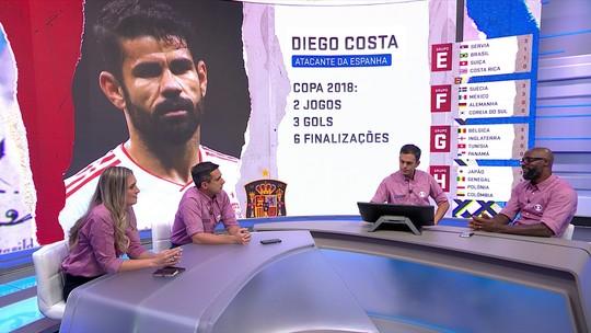 """Grafite comenta temperamento de Diego Costa: """"De vez em quando, o fio dele solta"""""""