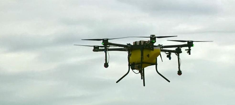 Indaiatuba inicia testes com drone no combate ao Aedes  — Foto: Reprodução/EPTV