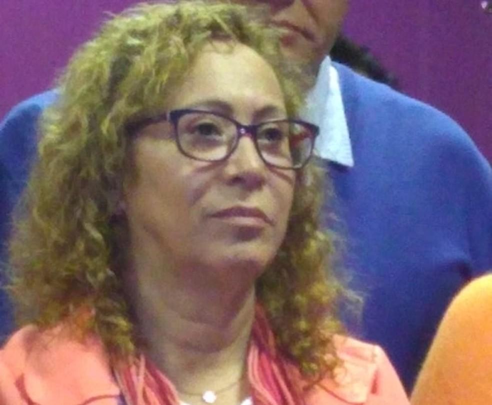 Abigail foi confirmada como candidata ao governo do estado pelo Pcdob (Foto: Isabel Ferrari/RBS TV)