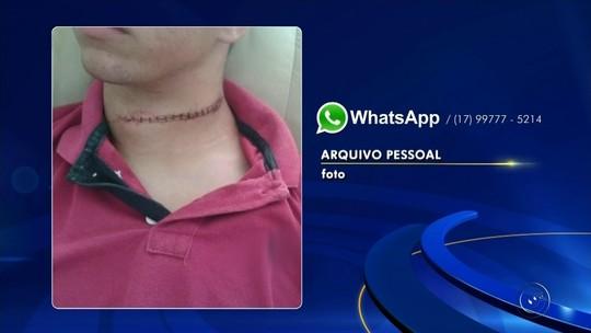 Adolescente tem pescoço cortado por linha de cerol em Nova Granada