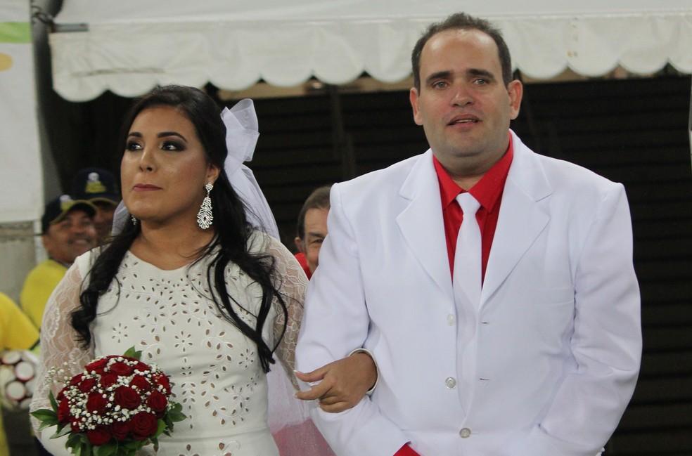 Arena das Dunas recebeu quase 10 mil pessoas para o casamento de Glauce e Rodrigo, e para América-RN x Ceilândia (Foto: Diego Simonetti/Blog do Major)