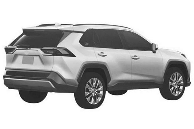 Patente Novo Toyota RAV4 2019 (Foto: Reprodução/INPI)