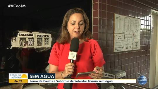 Fornecimento de água é interrompido em Lauro de Freitas por causa de obras em reservatórios