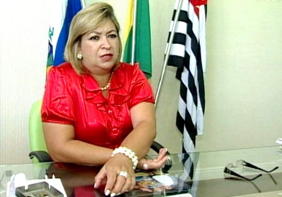 Sandra Sclauser, ex-prefeita de Presidente Alves, foi condenada a 5 anos e 10 meses em regime semi-aberto (Foto: Arquivo / Reprodução TV TEM)
