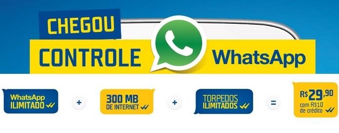 Parceria entre Tim e WhastApp oferece plano com acesso ilimitado ao app (Foto: Reprodução/TIM)