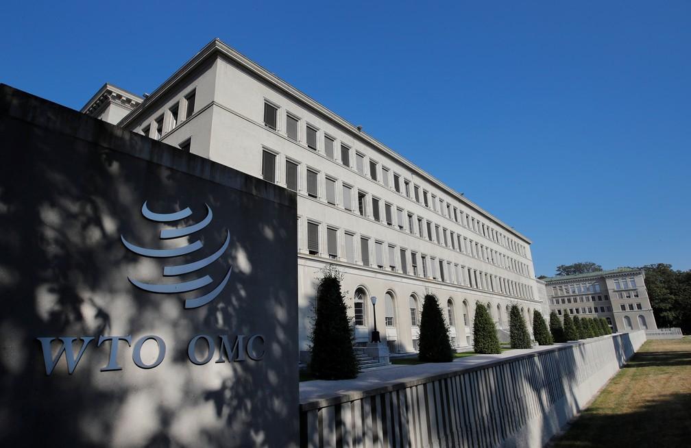 Prédio da OMC em Genebra — Foto: Denis Balibouse/Reuters