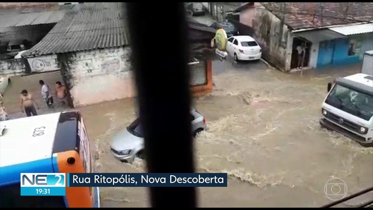 Com chuvas fortes, Grande Recife registra vários pontos de alagamento