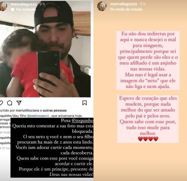 Marcella Guzzo critica Toquinho e o filho, Pedro (Foto: Reprodução/Instagram)