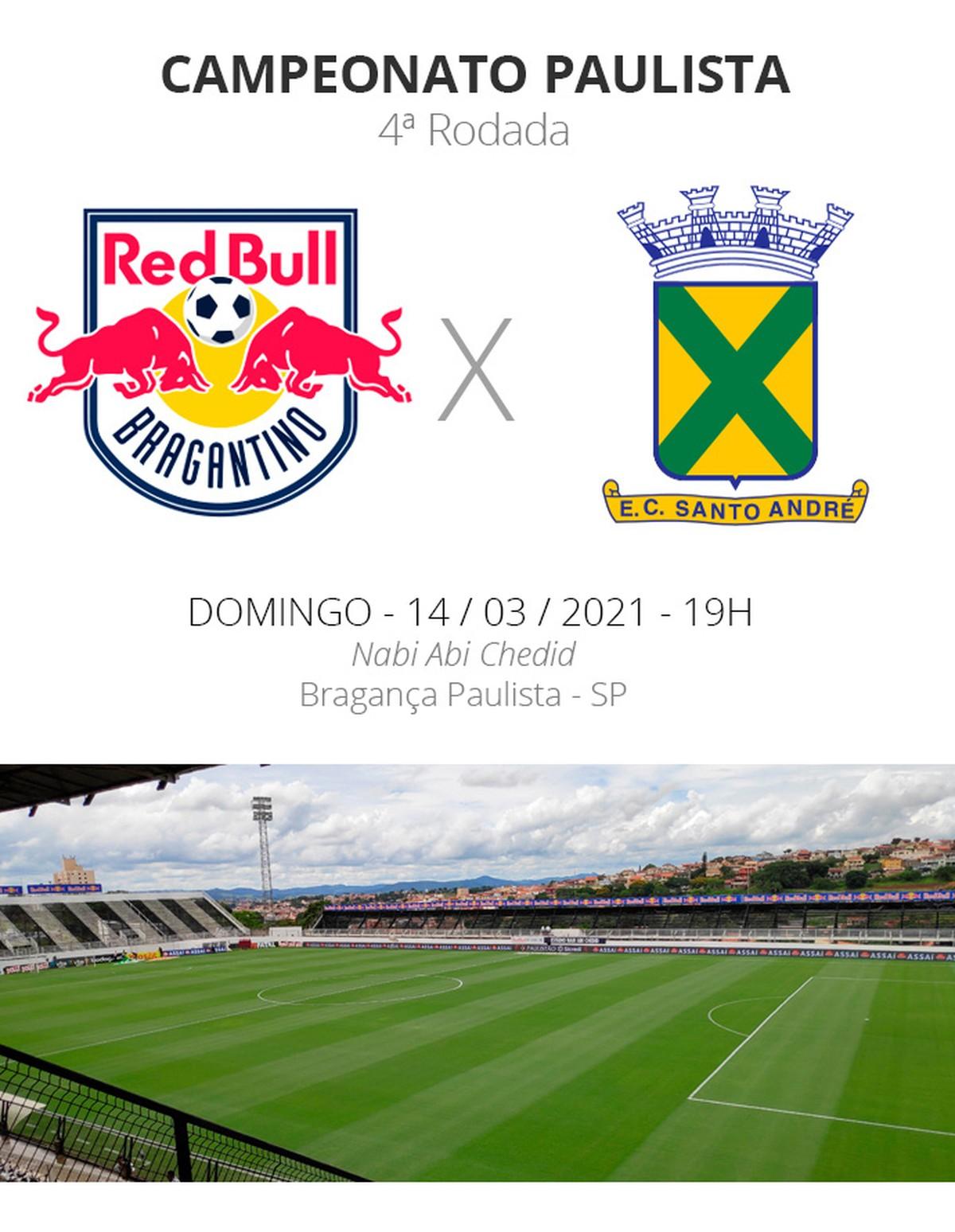 Bragantino x Santo André: veja onde assistir, escalações, desfalques e  arbitragem   campeonato paulista