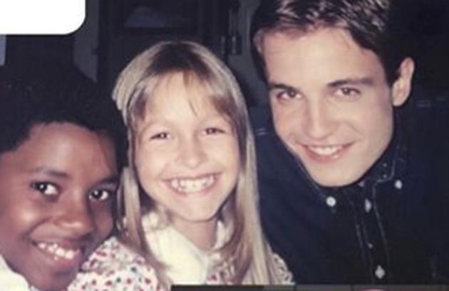 Carla com os atores atores Samuel Melo e Max Fercondini (Foto: Reprodução/Instagram)